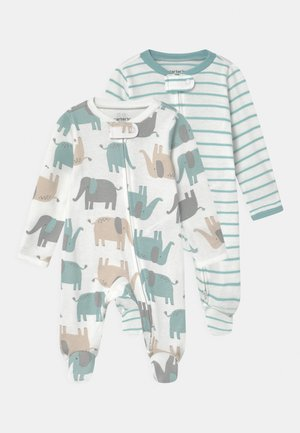 2 PACK UNISEX - Sleep suit - light blue/white