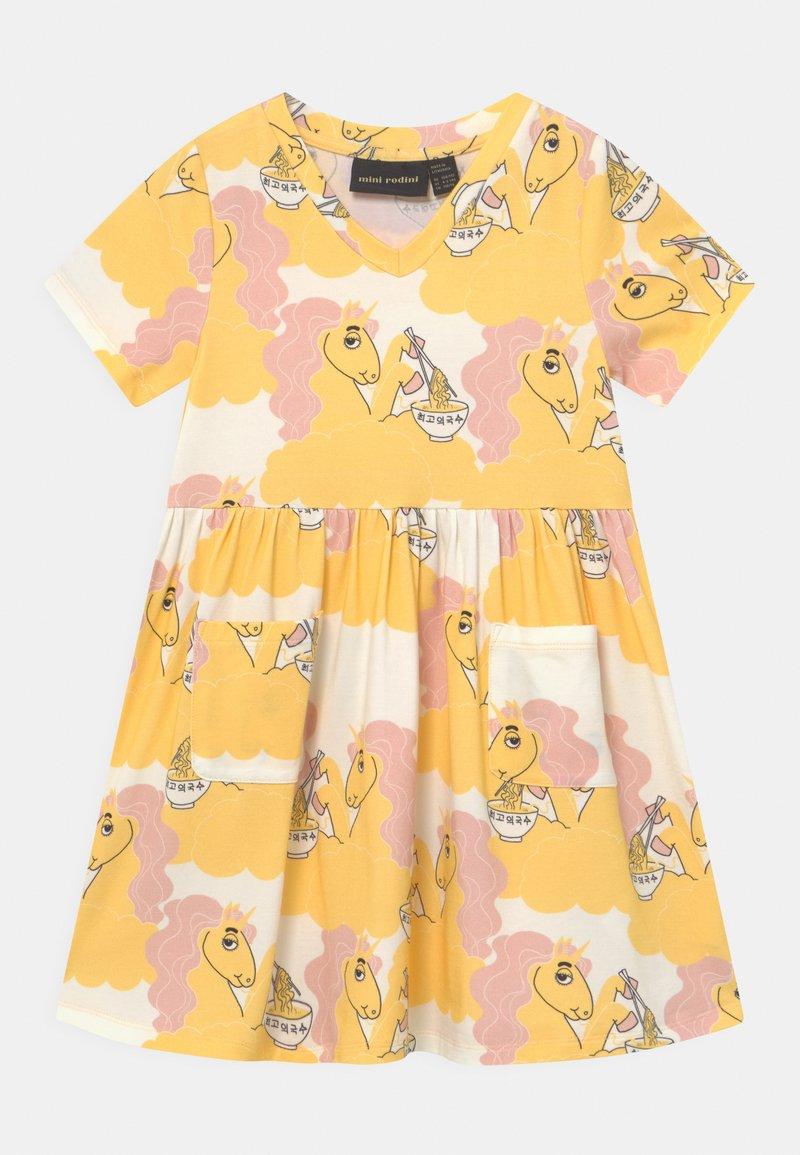 Mini Rodini - UNICORN NOODLES - Žerzejové šaty - yellow