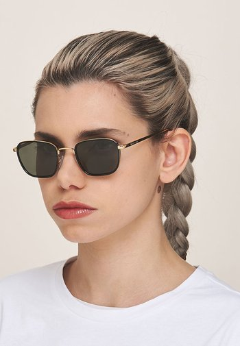Sunglasses - gold black olive