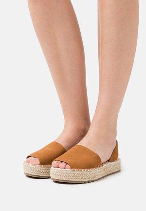 LUZIA - Platform sandals - brown