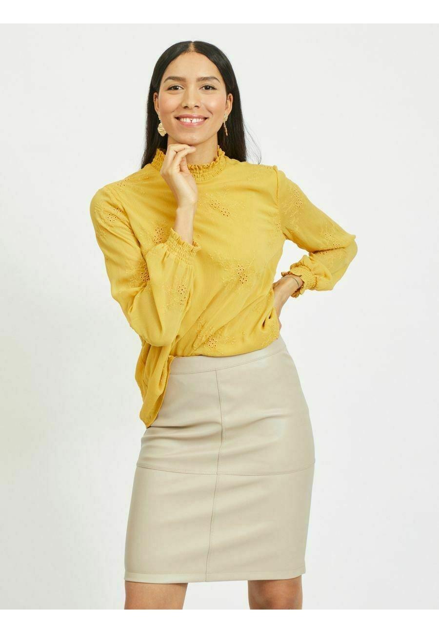 Damen GESMOKTES STICKEREI - Bluse