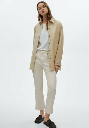 Trousers - beige