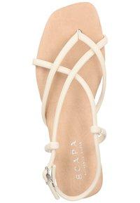 Scapa - T-bar sandals - ecru - 2