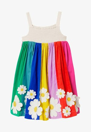 Day dress - bunt gestreift, blumenmuster