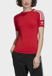 adidas Originals - TIGHT T-SHIRT - Camiseta estampada - red - 4