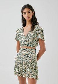 PULL&BEAR - A-line skirt - multi-coloured - 3