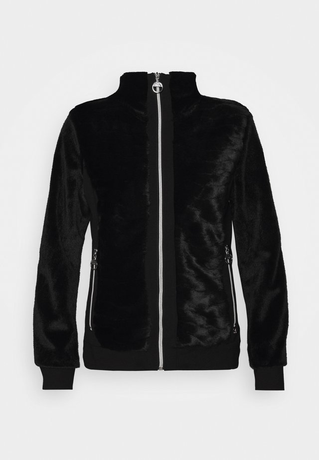 ESPINGEN - veste en sweat zippée - black