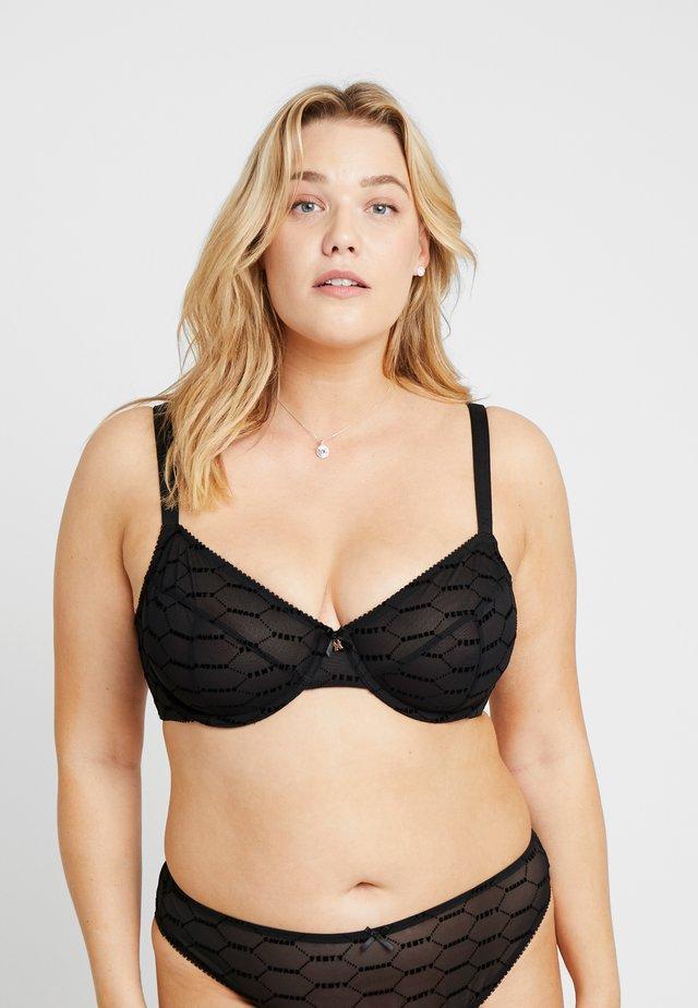 PLUS UNDERWIRE BRA - Underwired bra - black