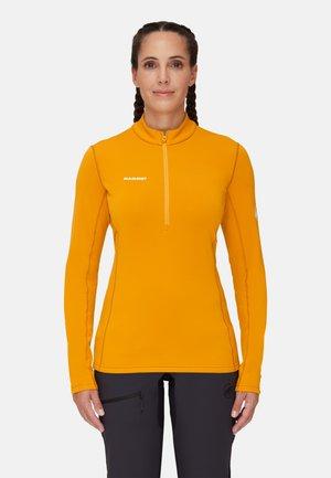 AENERGY ML HALF ZIP PULL  - Long sleeved top - gold