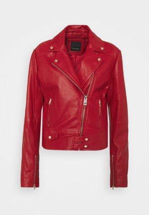 SENSIBILE CHIODO - Leather jacket - red