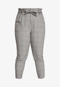 Vero Moda Curve - VMEVA LOOSE PAPERBAG CHECK - Trousers - grey - 4