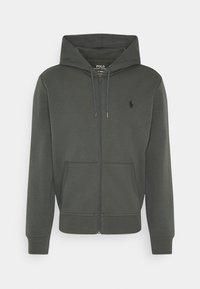 DOUBL FULL ZIP HOODIE - Zip-up sweatshirt - charcoal grey