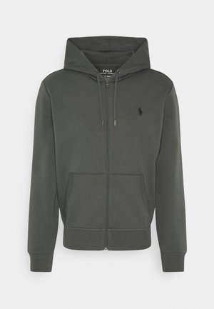 DOUBLE TECH - Zip-up hoodie - charcoal grey