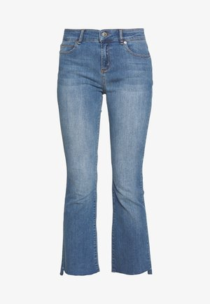 JOHANNA KICK WASH LINZ - Flared Jeans - denim blue