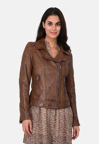 Oakwood - FOLLOW - Leather jacket - brown - 0