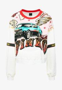Pinko - SENAPE MAGLIA FELPA DI COTONE - Sweater - bianco biancaneve - 4
