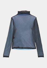 Local Heroes - JOLIE TURTLENECK - Long sleeved top - black/light blue - 1