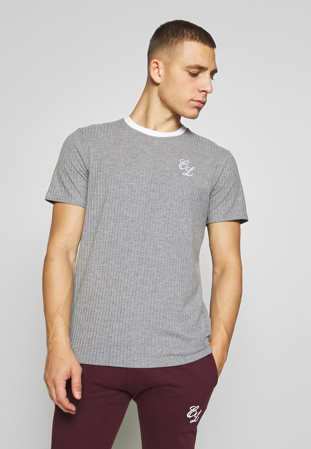 TONAL STRIPE TEE - Print T-shirt - grey
