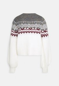 Gina Tricot - CHRISTMAS BELLE SWEATER - Jumper - offwhite/orchid - 1