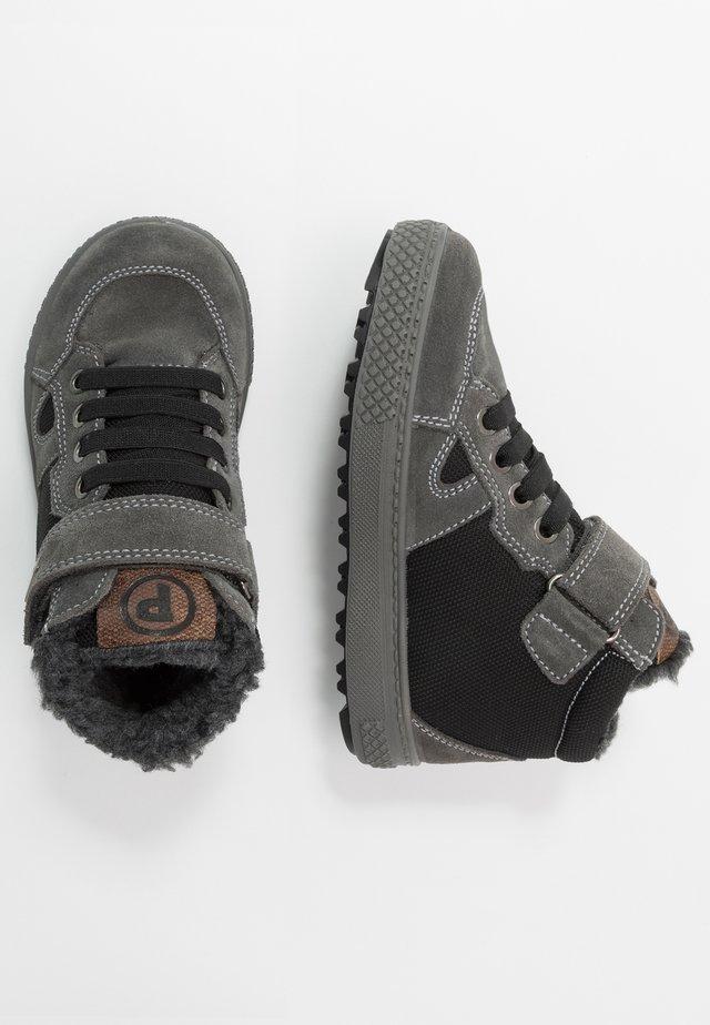 High-top trainers - grigio/nero