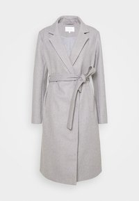 VIPAKA COOLEY TIE BELT  - Classic coat - light grey melange