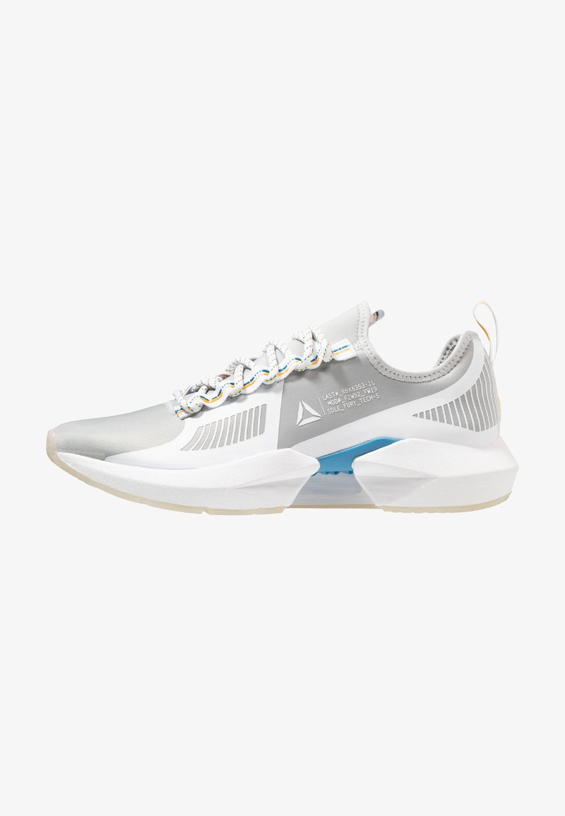 Reebok - SOLE FURY TS - Sports shoes - grey/white/cyan