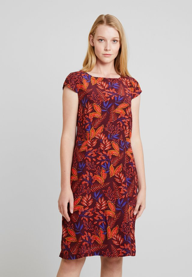 DRESS - Day dress - wine red multicolor