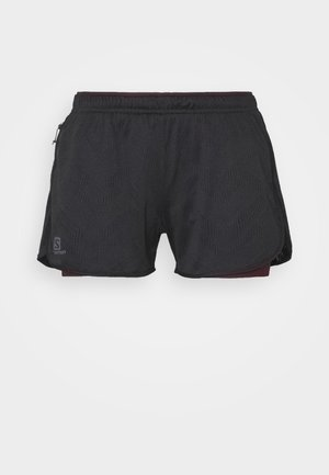 AGILE 2IN1 SHORT  - Shorts - black/winetasting