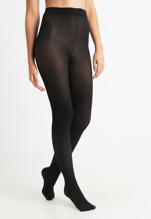 DOGTOOTH TIGHT - Punčocháče - black