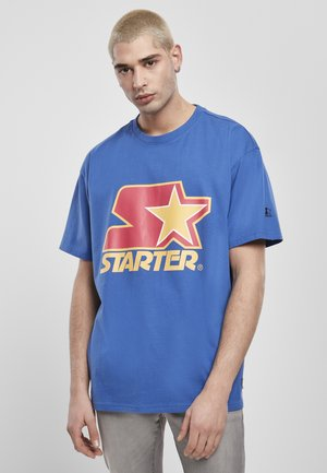 Print T-shirt - blue/red/yellow