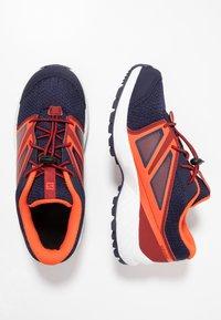 Salomon - SENSE - Hiking shoes - evening blue/red dahlia/cherry tomato - 0