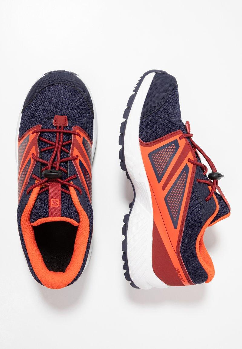 Salomon - SENSE - Hiking shoes - evening blue/red dahlia/cherry tomato
