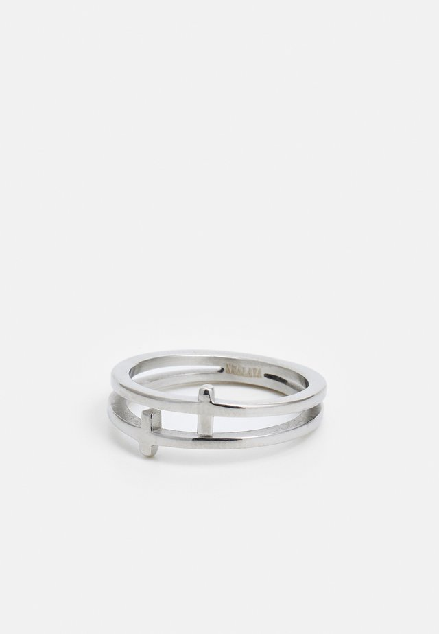 DOUBLE CROSS  - Ring - silver-coloured