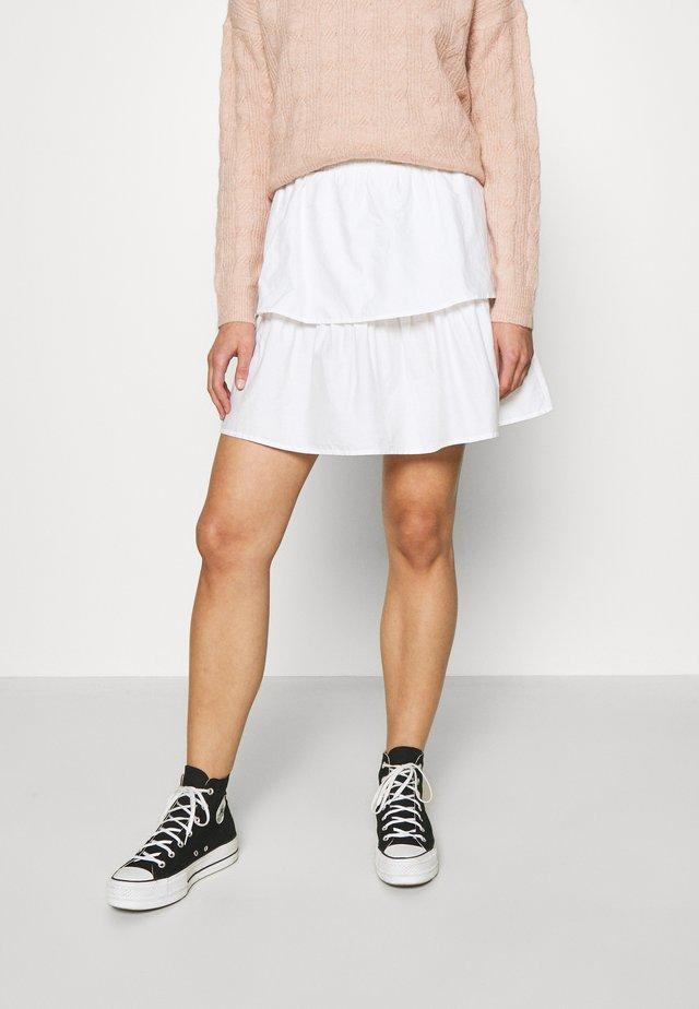 SMILLA SKIRT - Áčková sukně - white