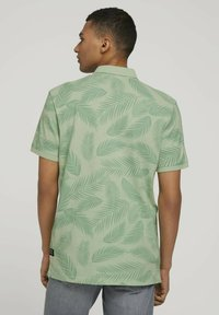 TOM TAILOR DENIM - Polo shirt - mint palm leaves print - 2