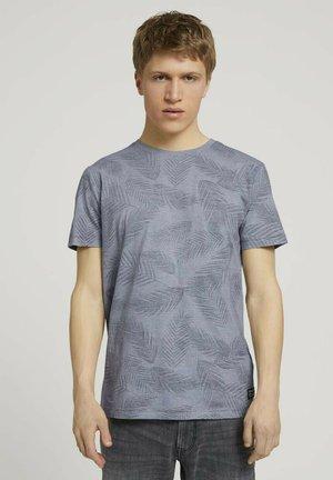 MIT PALMENPRINT - T-shirt med print - anthra inside palm leaf print