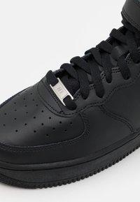 Nike Sportswear - AIR FORCE 1 MID  - High-top trainers - black - 5