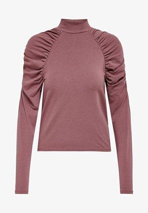 Long sleeved top - rose brown