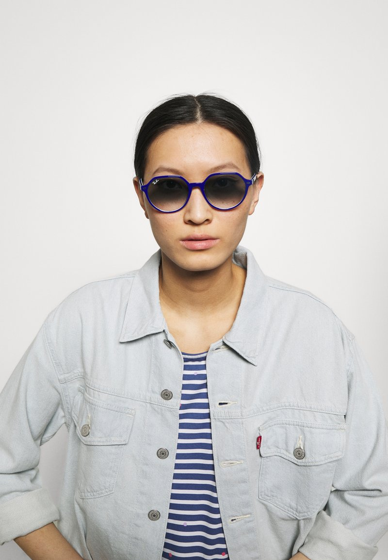 Ray-Ban - UNISEX - Sunglasses - vichy blu/white