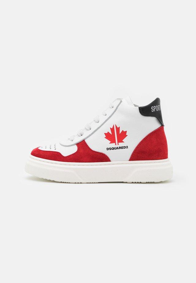 UNISEX - Sneaker high - white/red