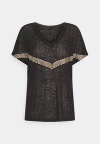 ONLY - ONYRITA PREPPY - Print T-shirt - black/gold - 4