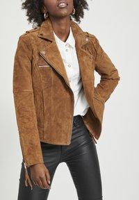 Vila - VICRIS - Leather jacket - brown - 3