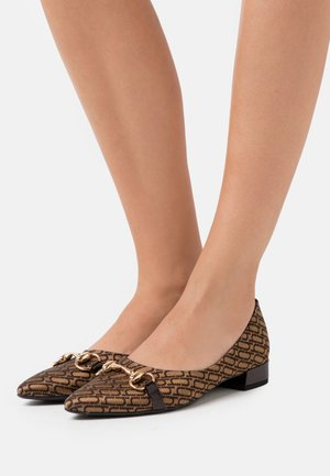 Ballet pumps - retro camel/dark brown