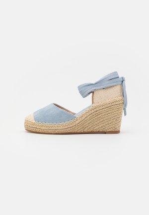 Platform heels - blue