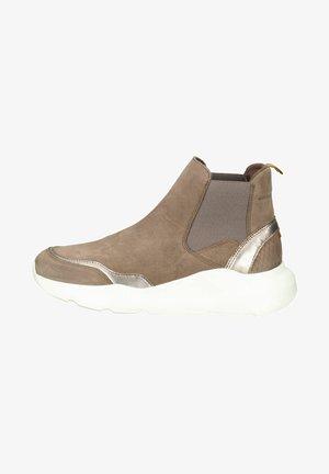 Sneakersy wysokie - truffel combi