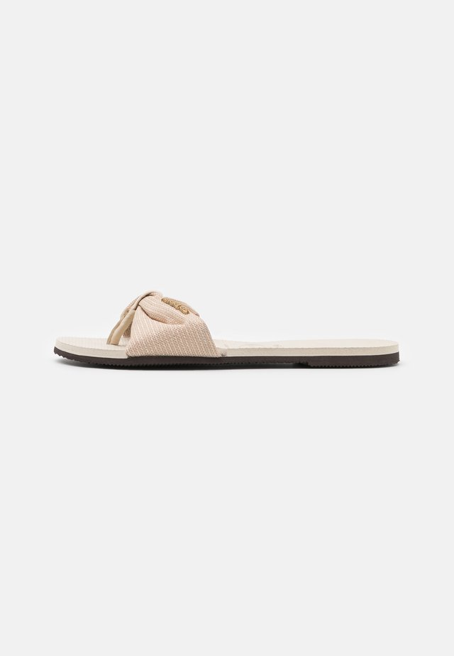 YOU TROPEZ SHINE - tåsandaler - beige