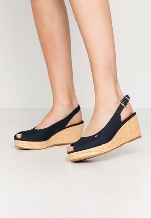 ELBA - Wedge sandals - desert sky
