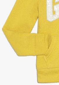 GAP - GIRLS LOGO  - Huvtröja med dragkedja - rainslicker yellow - 2