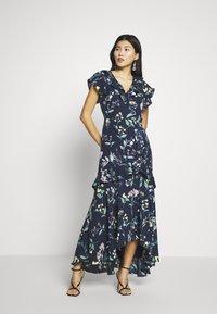 Banana Republic - VNECK HI LOW - Maxi šaty - navy floral - 0