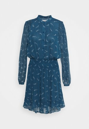 SIG LOGO PRINT DRESS - Shirt dress - river blue